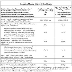 Peeroton Mineral Vitamin Drink Tub 300g, Cherry